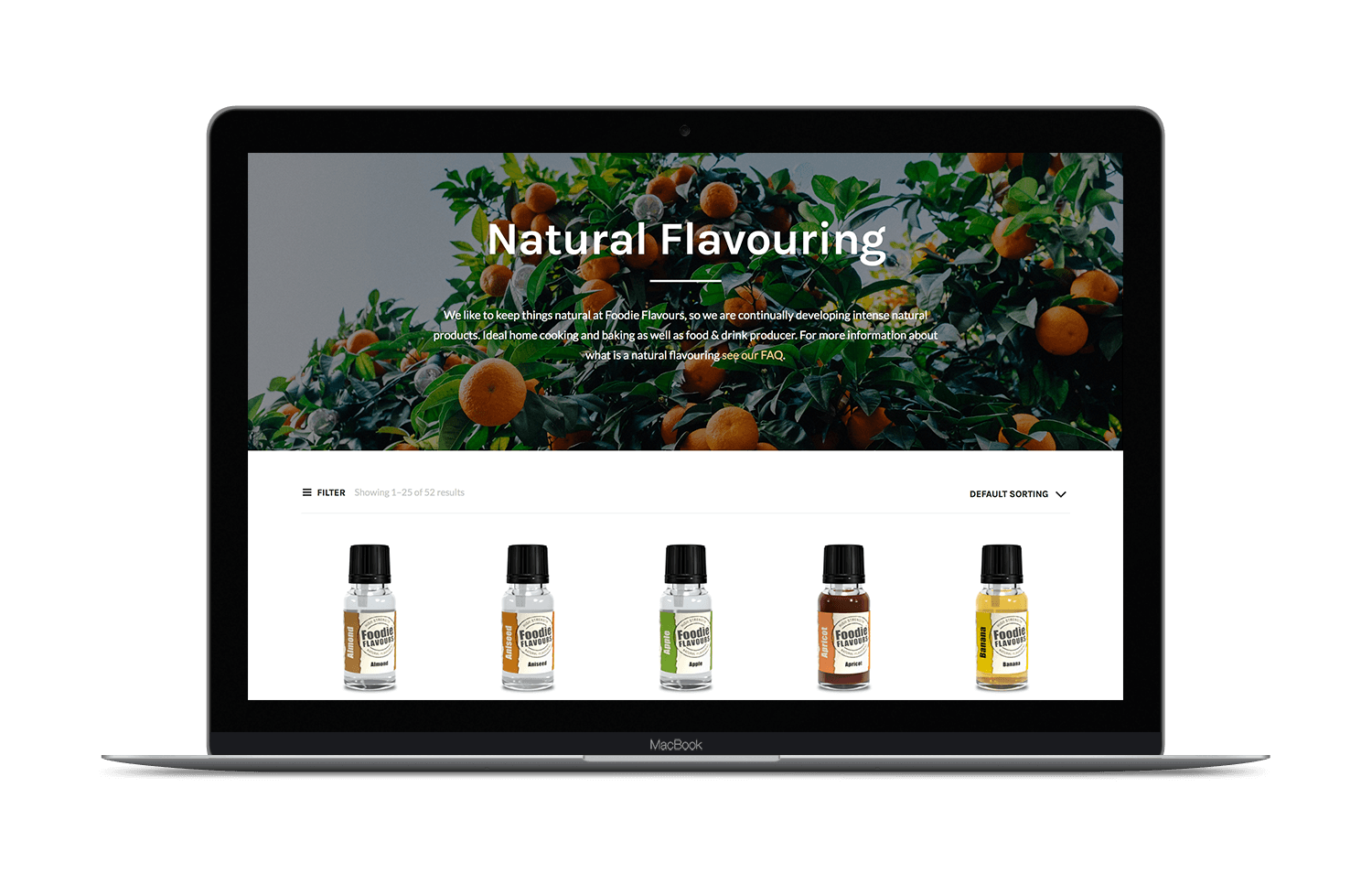 new foodie flavours ecommerce website