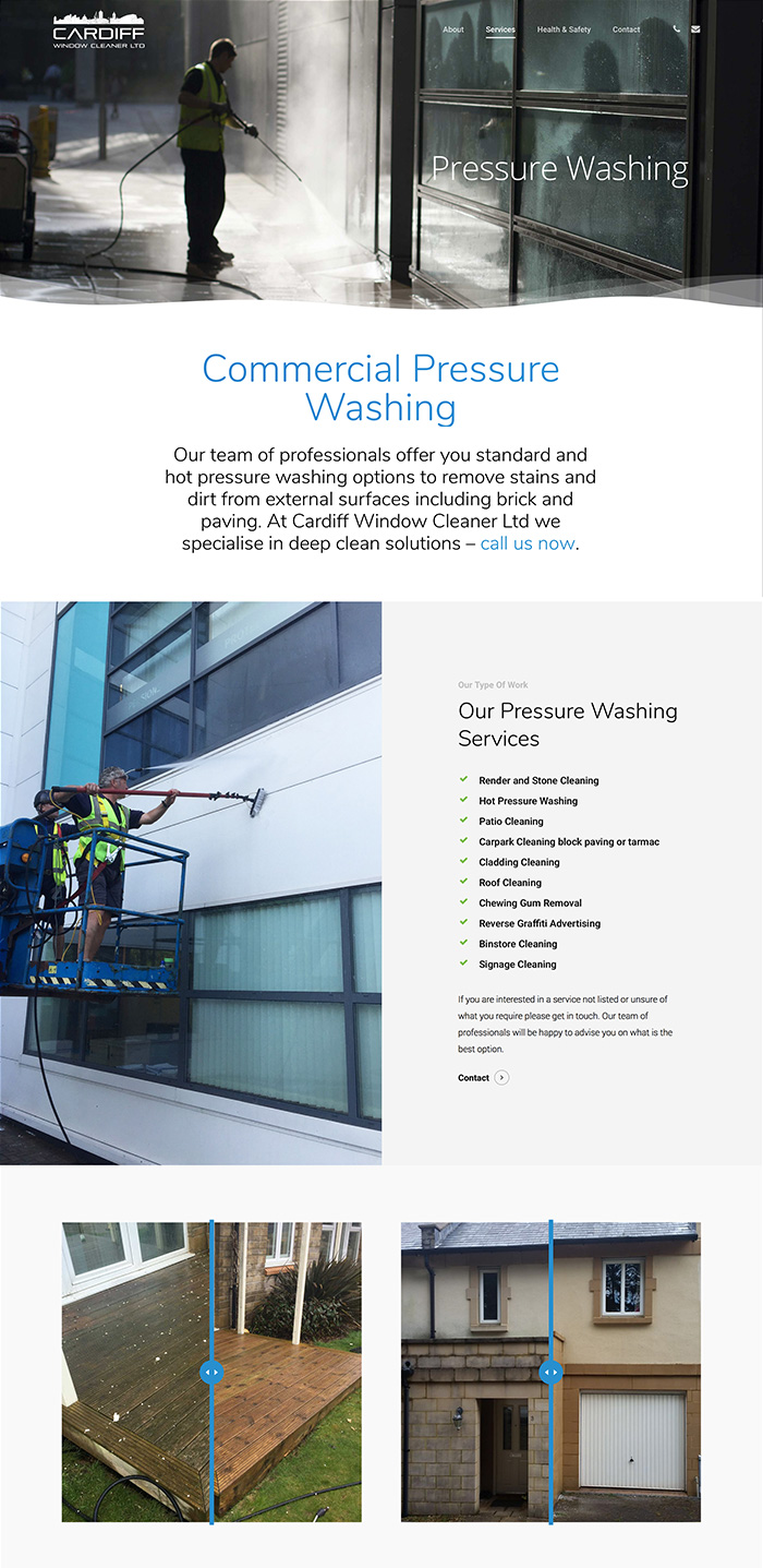 Cardiff window cleaning pressure washing