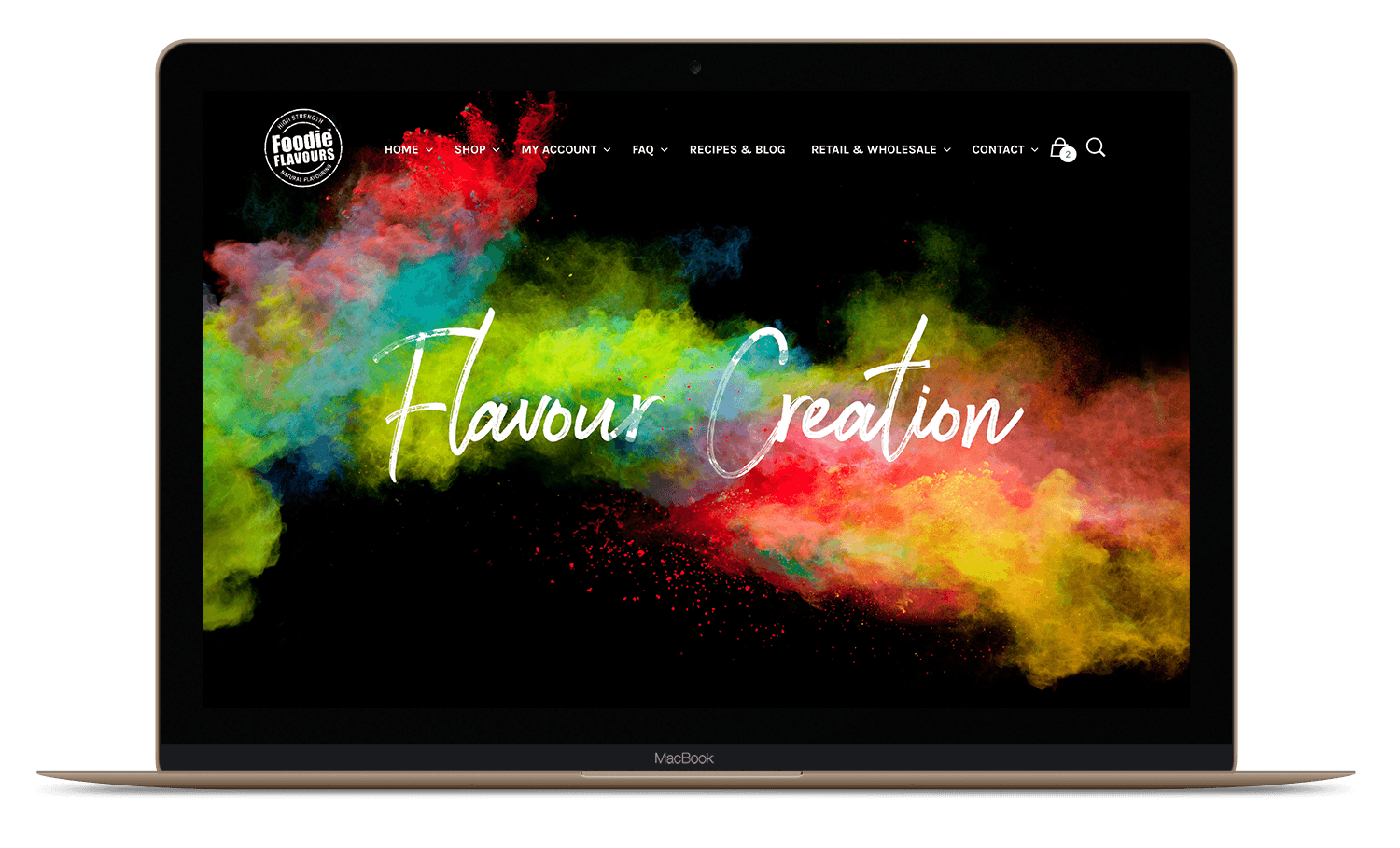 foodie flavours modern website