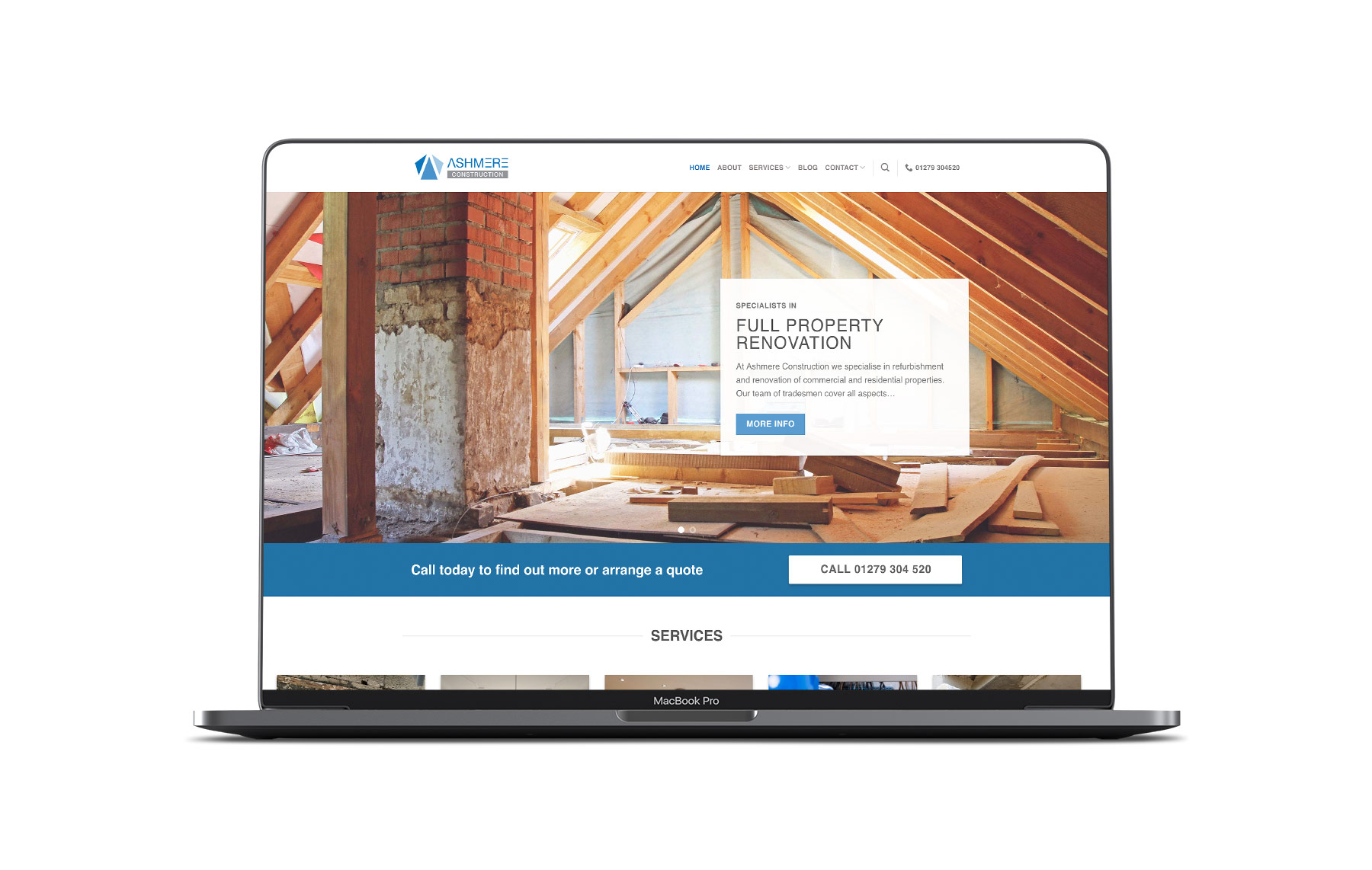 Ashmere Construction website