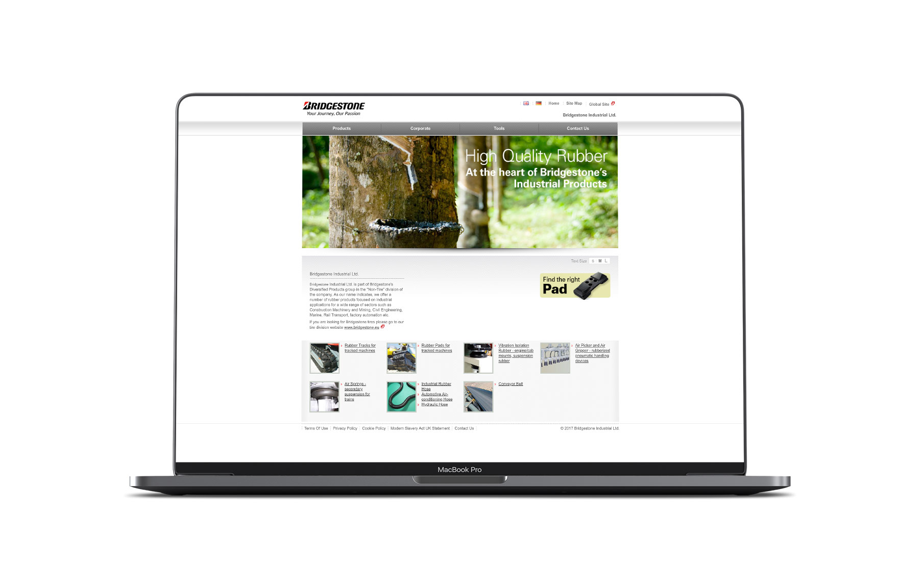 Bridgestone industrial website