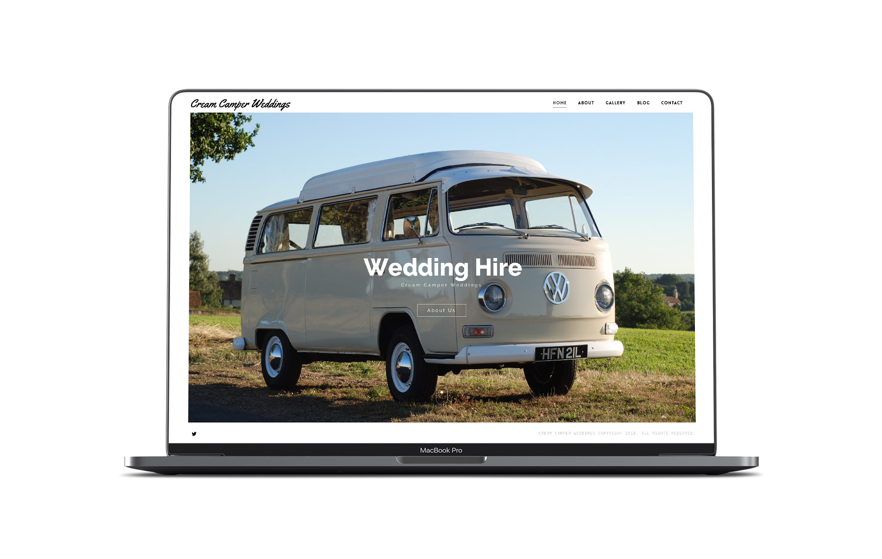 cream camper weddings website