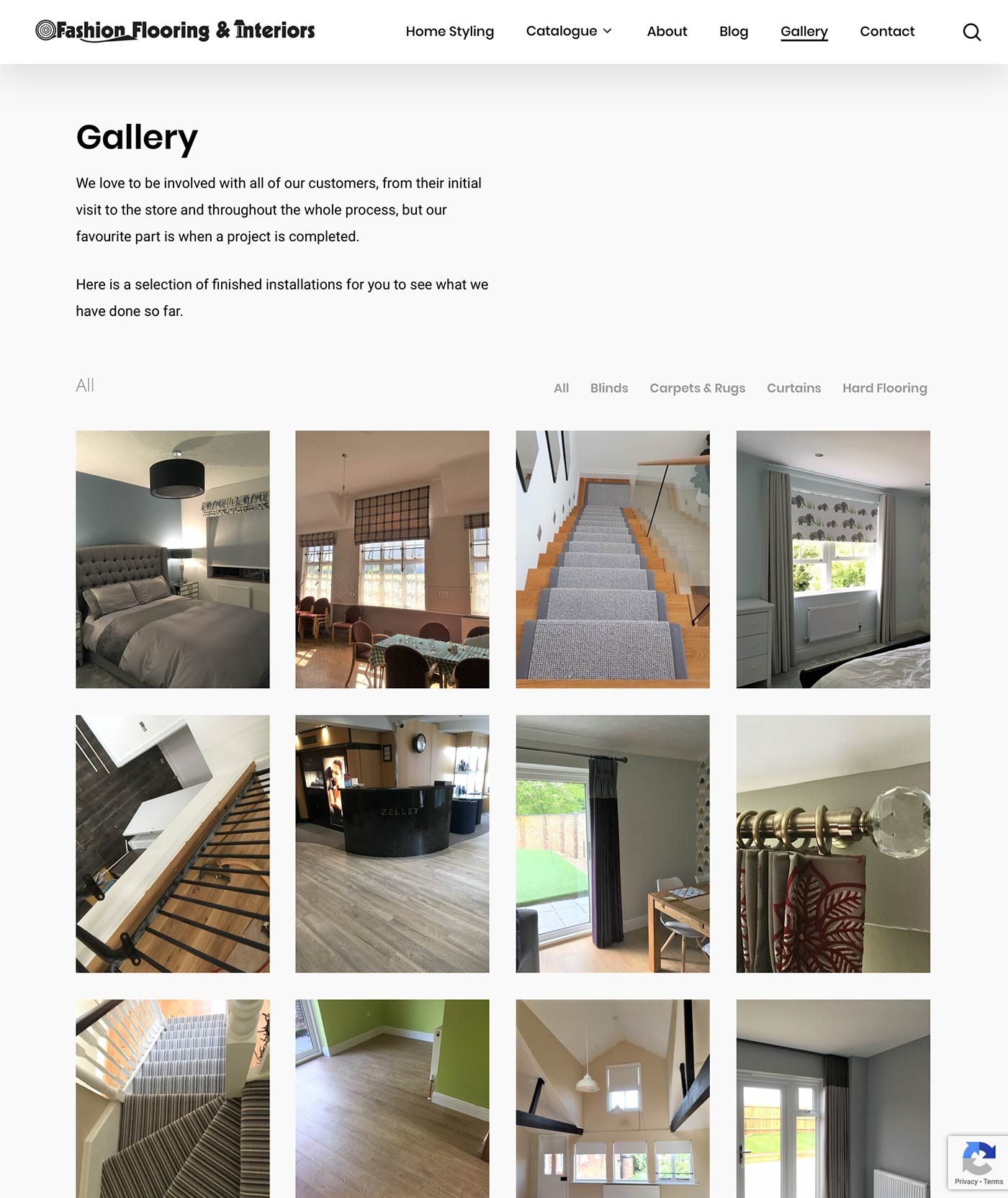 new website gallery page