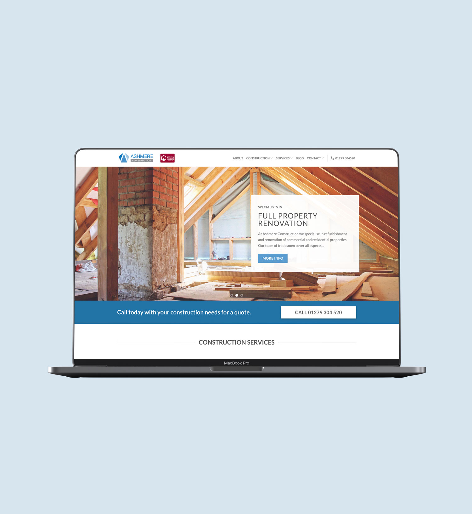 ashmere construction bishops stortford builders website